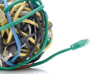 Монтаж короба и прокладка кабеля