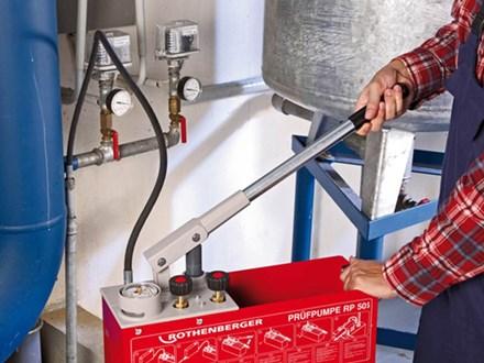 Гидравлическое испытание местной системы отопления (лето/зима)